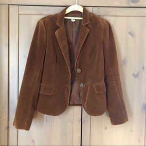 J. Crew Chestnut Corduroy Blazer/Jacket